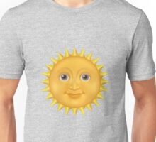 Sun face emoji Unisex T-Shirt