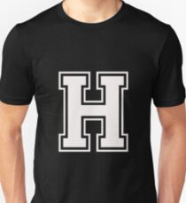 Letter - H (white) Unisex T-Shirt