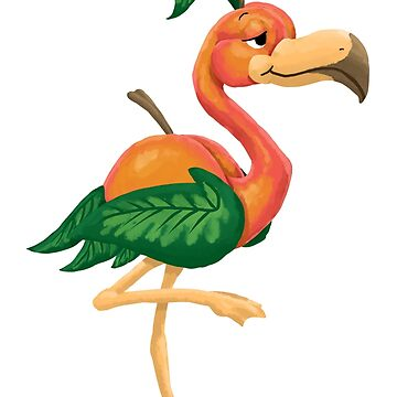 Peach Flamingo by JordanMDalton
