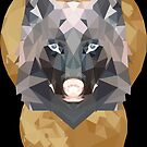 Low Poly Moon + Wolf (Reverse) by CurtisC