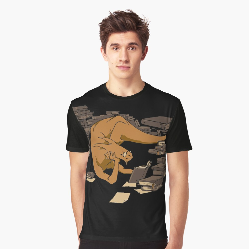 The Book Wyrm Graphic T-Shirt