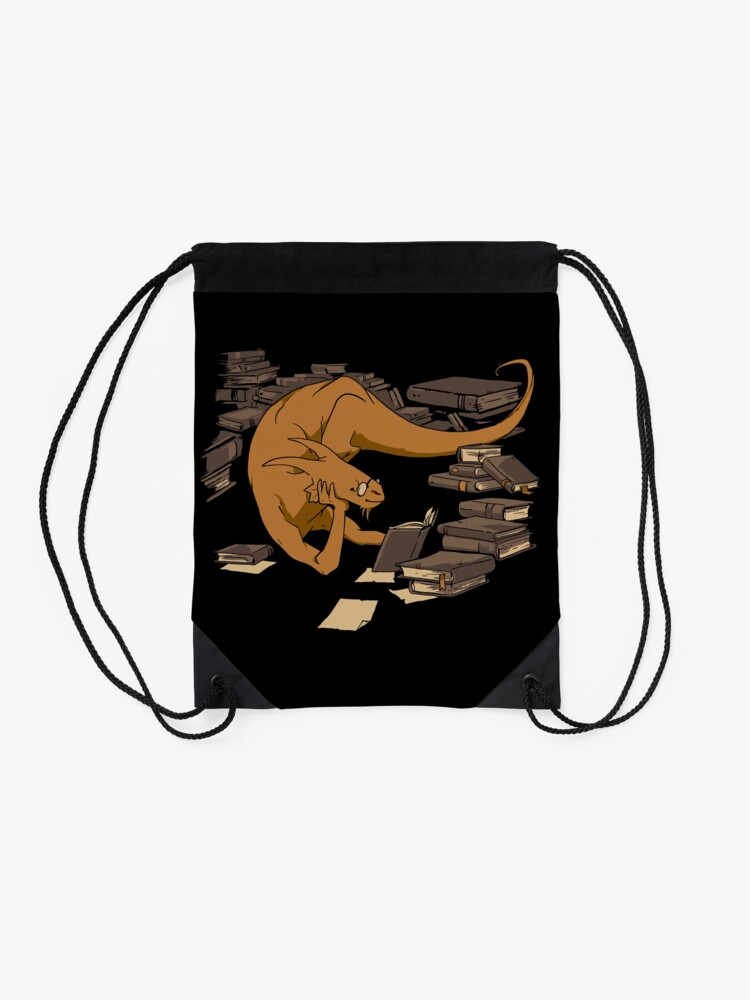 Alternate view of The Book Wyrm Drawstring Bag