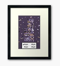 A Wild Missingno. appeared! Framed Print