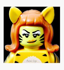 Lego Tiger Woman minifigure Photographic Print