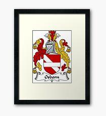 Osborn Coat of Arms / Osborn Family Crest Framed Print