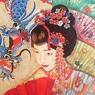 Geisha in Red by Kellea Croft