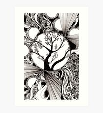 Spring Splendor, Ink Drawing Art Print