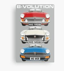 Lienzo metálico MG MGB evolution