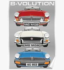 MG MGB evolution Poster
