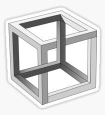 Pegatina Mente el cubo de Escher