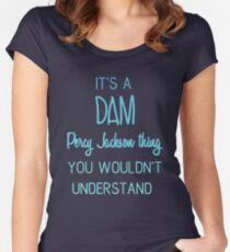 Dam Percy Jackson Thing Women's Fitted Scoop T-Shirt