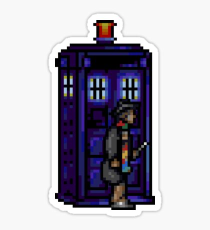 Time And Relative Pixels: Fourth Doctor Sticker