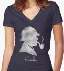 World's Greatest Detective Women's Fitted V-Neck T-Shirt