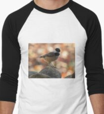 Carolina Chickadee On Rock Men's Baseball ¾ T-Shirt