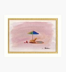 A Place to Relax - watercolor painting at Carpenteria Art Print