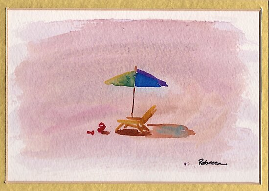 A Place to Relax - watercolor painting at Carpenteria by Rebecca Rees