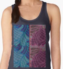 Blue and Purple Abstract Women's Tank Top
