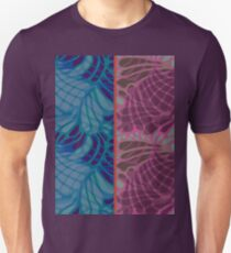 Blue and Purple Abstract Print Duvet Cover Unisex T-Shirt
