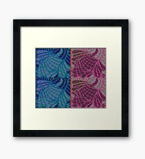 Blue and Purple Abstract Print Duvet Cover Framed Print