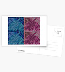 Blue and Purple Abstract Print Duvet Cover Postcards