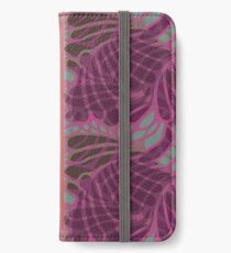 Blue and Purple Abstract Print Duvet Cover iPhone Wallet/Case/Skin