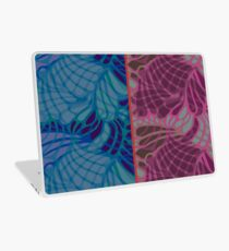 Blue and Purple Abstract Print Duvet Cover Laptop Skin