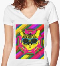 The Ultimate Cat Feline T shirt Women's Fitted V-Neck T-Shirt