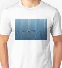 Ripples and Circles – Red-Necked Grebe T-Shirt