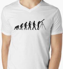 Funny Evolution of Astronomy Men's V-Neck T-Shirt