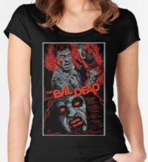 evil dead art #1 Women's Fitted Scoop T-Shirt