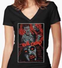 evil dead art #1 Women's Fitted V-Neck T-Shirt