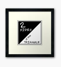 Two Sides Of The Triangle Framed Print