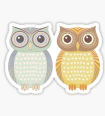 Cool Owl & Friendly Owl Sticker
