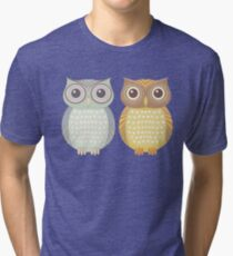 Cool Owl & Friendly Owl Tri-blend T-Shirt