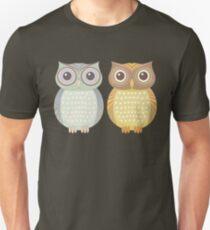 Cool Owl & Friendly Owl Unisex T-Shirt