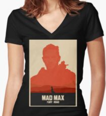 Mad Max Fury Road Art #1 Women's Fitted V-Neck T-Shirt