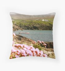 Malinmore Pier, Glencolmcille, Co. Donegal  Throw Pillow