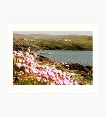 Malinmore Pier, Glencolmcille, Co. Donegal  Art Print
