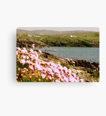 Malinmore Pier, Glencolmcille, Co. Donegal  Canvas Print
