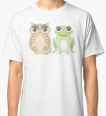 Big-Eyed Cat and Optimistic Frog Classic T-Shirt
