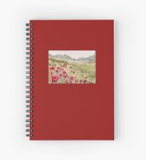 Remembrance, Flanders Field Poppies Spiral Notebook