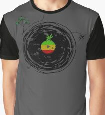 Reggae Music - Vinyl Records Cannabis Leaf - DJ inspired design Graphic T-Shirt