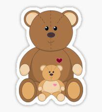 TWO TEDDY BEARS Sticker