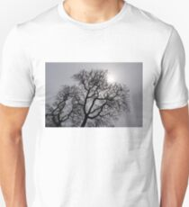 Pearly Silver Sky Filigree Unisex T-Shirt
