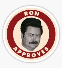Ron stimmt zu Sticker