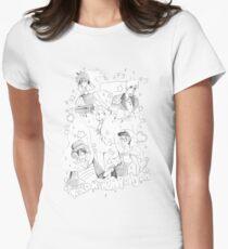 Kira Kira Apollyon Black X White Women's Fitted T-Shirt