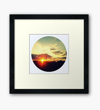 October Sunset Framed Print