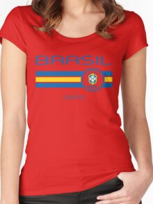 Copa America 2016 - Brasil (Home Yellow) Women's Fitted Scoop T-Shirt