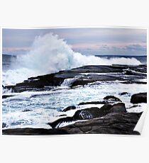 Ferocious Ocean -- Peggy's Cove, Nova Scotia Poster