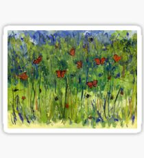 In the Garden Watercolour Painting Sticker